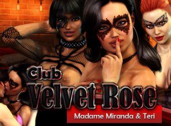 Juego de flash porno del navegador llamado Club Velvet Rose