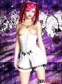 Chica pelo rosa blanca corse